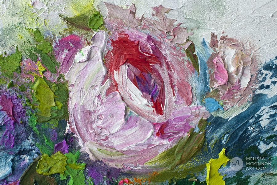 Original Painting 20 X20 Melissa Mckinnon Colourful Modern Abstract Floral Painting Of Pink Rose And Peony Flo Abstract Floral Paintings Floral Painting Art