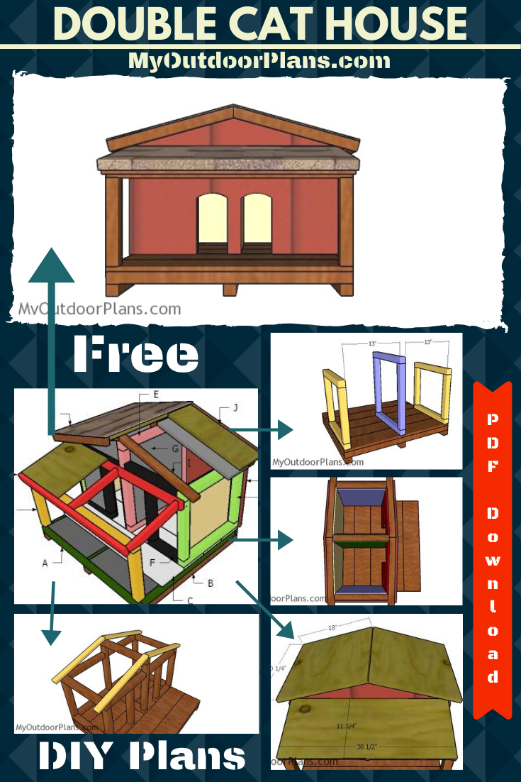 How To Build A Double Cat House With Insulation Cat House Plans Cat House Diy Outdoor Cat House Diy