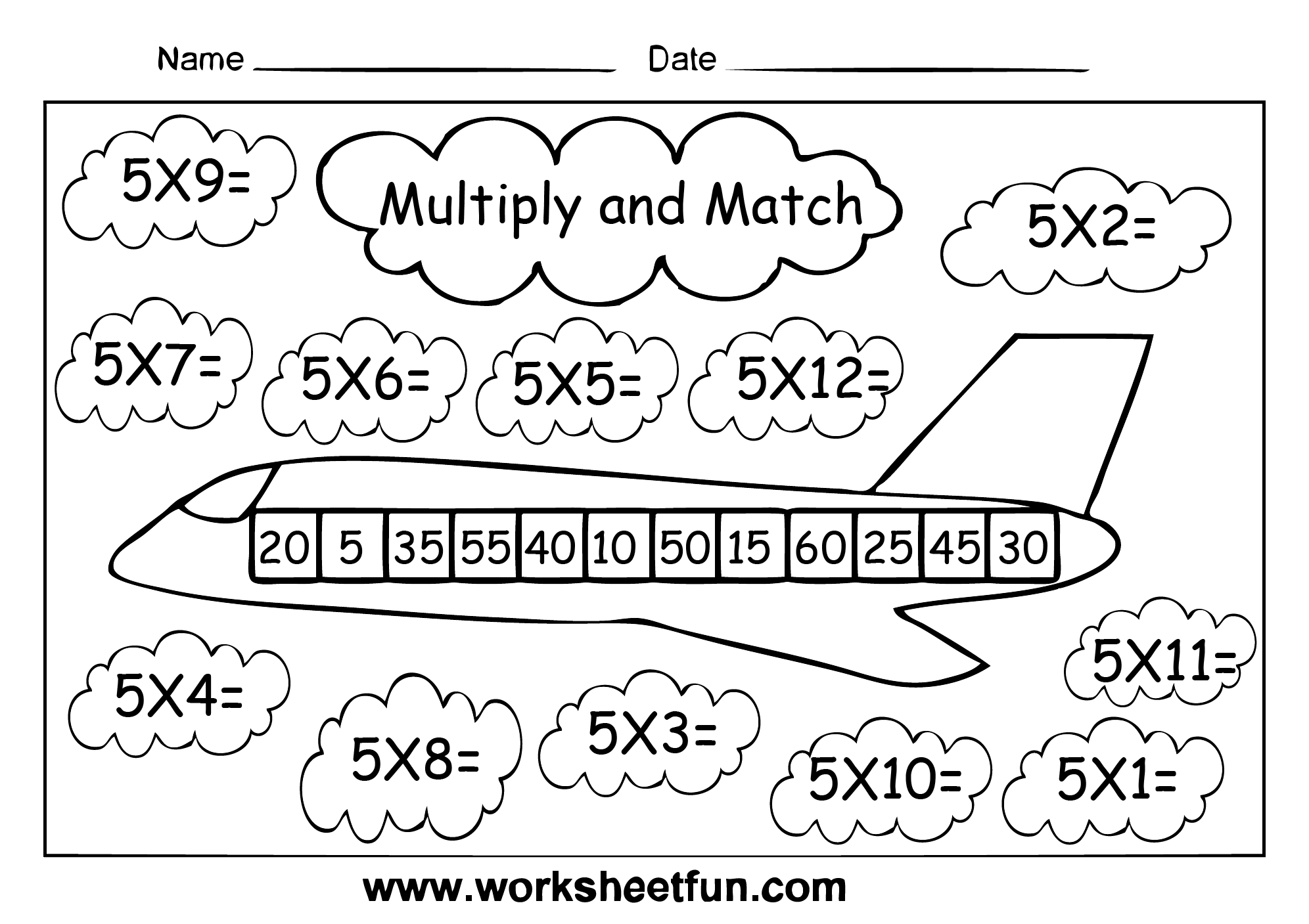 Times Table Eight Worksheets Multiplication worksheets