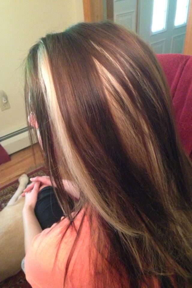 Blonde peek a boo color