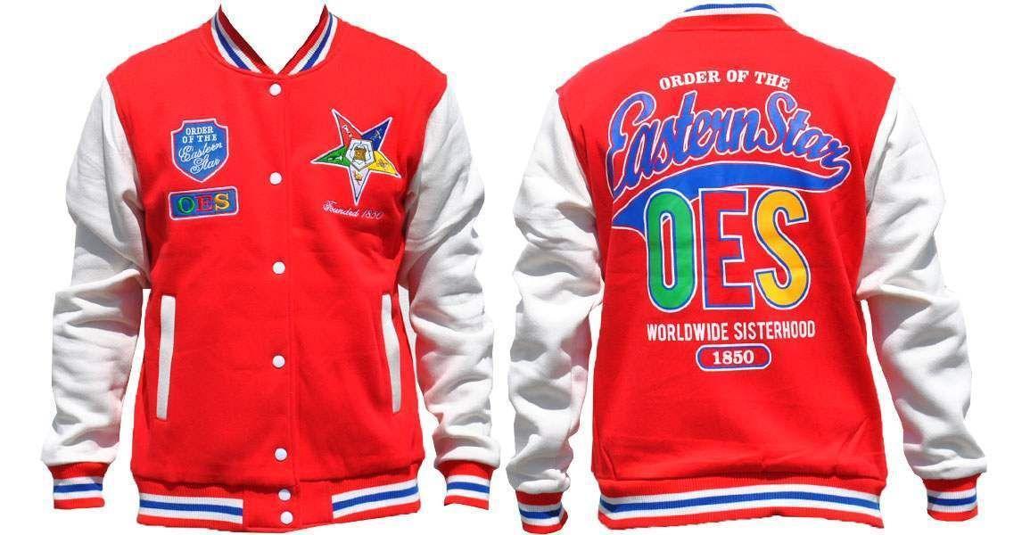 Order of the Eastern Star Jacket OES Sorority White Windbreaker Jacket