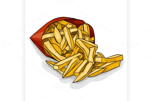 French Fry Color Picture French Fries Colorful Pictures Fries