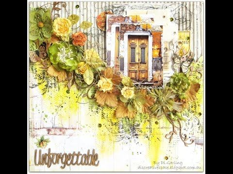 Scrapbooking Mixed Media Layout for Blue Fern Studios. - YouTube