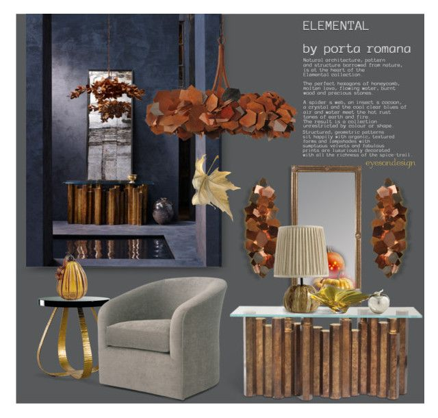 """Elemental"" by eyesondesign ❤ liked on Polyvore featuring interior, interiors, interior design, дом, home decor, interior decorating, Pier 1 Imports, Cyan Design, interiordesign и TastemastersDesignGroup"