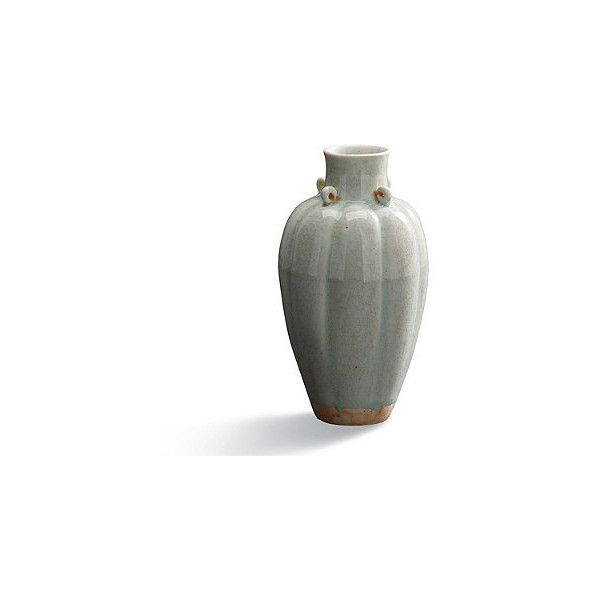 Celadon Fluted Vase 79 Liked On Polyvore Featuring Home Decor