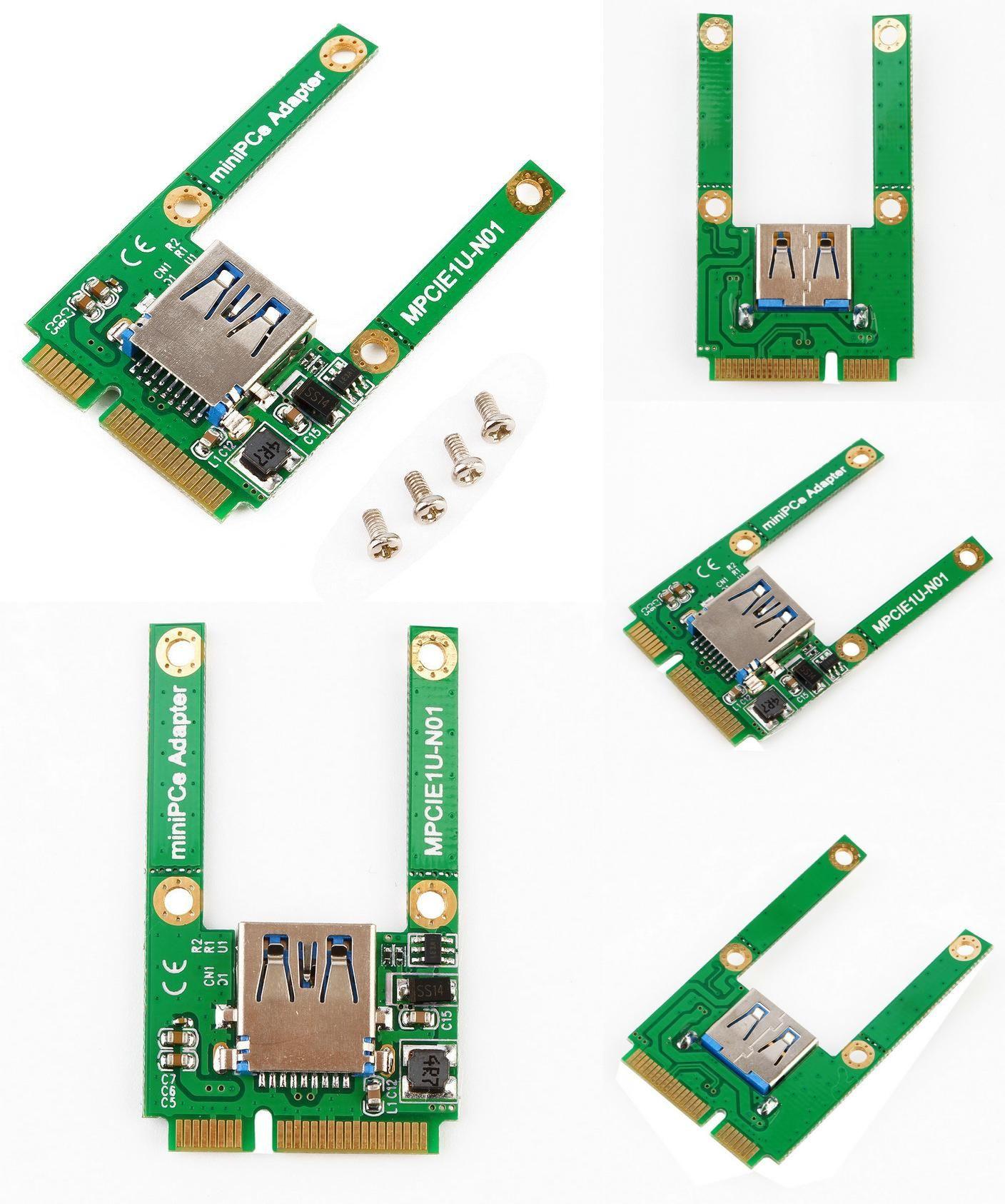 Hot Mini PCI-E Card Slot Expansion to USB 2.0 Interface Adapter Riser Card
