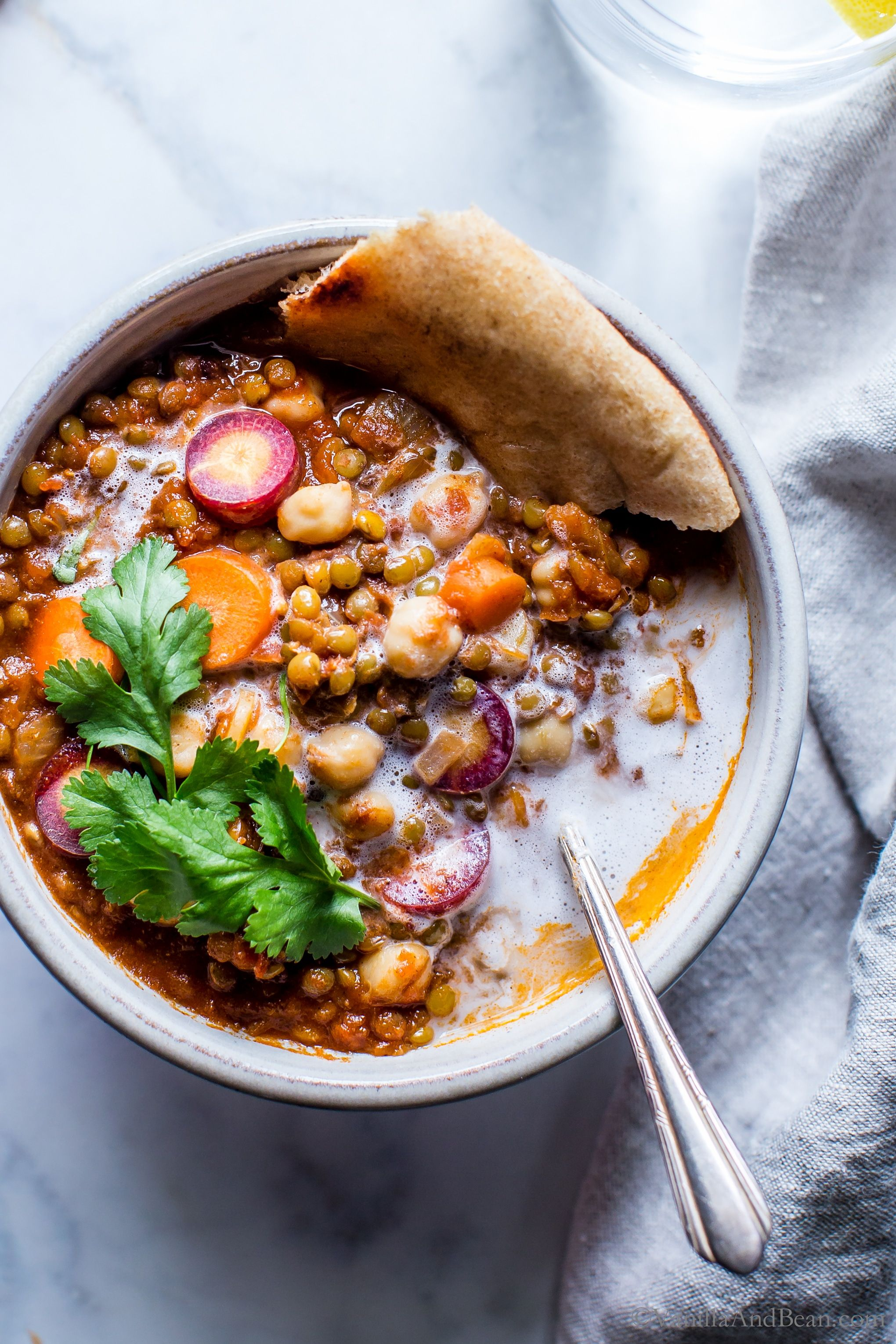 Moroccan Lentil Chickpea Stew Vanilla And Bean Plant