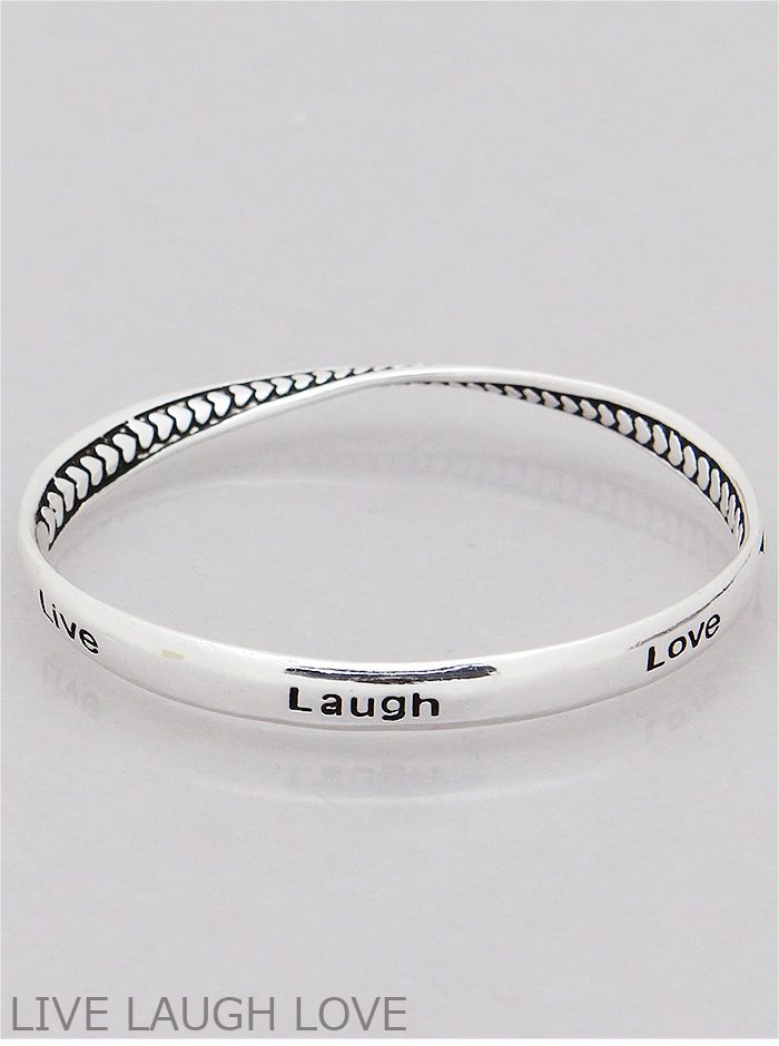 wave plated bracelet quality jewelry product silver bangle women equilibrium antiqued style happiness vintage inscribed high