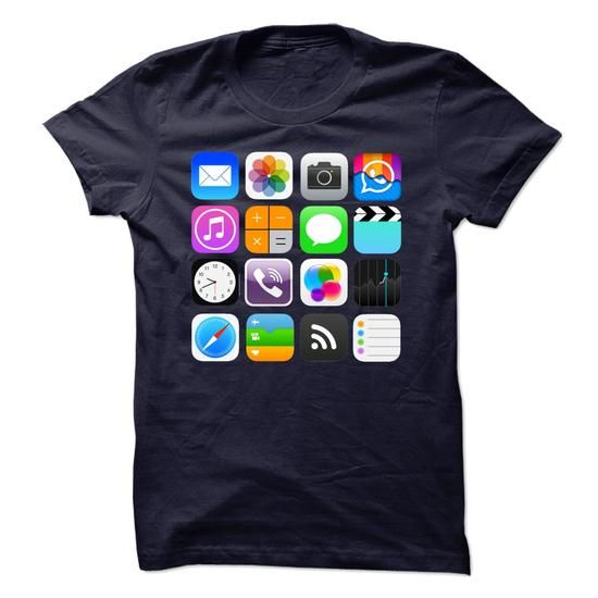 Apple Apps T Shirts, Hoodies. Check price ==► https://www.sunfrog.com/No-Category/Apple-Apps-shirt.html?41382 $19