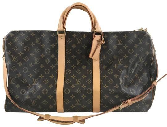 312177e6e0f04 Louis Vuitton Keepall 55 Bandouliere Monogram Coated Canvas Weekend Travel  Bag - Tradesy