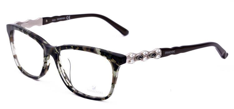 Designer lunettes femmes cadres myopie feuille métallique verres optiques  cadres femmes lunettes montures de lunettes avec strass dans Eyewear Frames  de ... a3ab8a9120cc