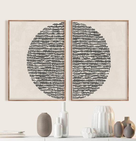 Sun Illustration, Mid century modern, block print