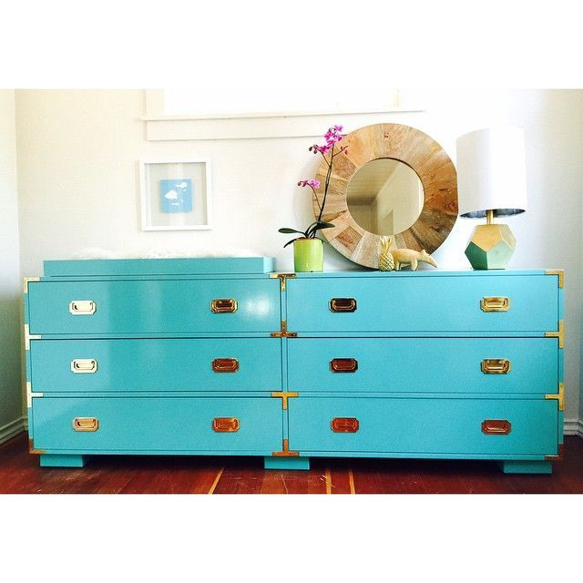 Campaign Dresser 6 - A, 6 drawer double pull, block feet, 72 20 x 32 ...