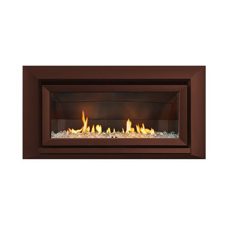 Escea Indoor Gas Florentine Bronze Fireplace Velo Front