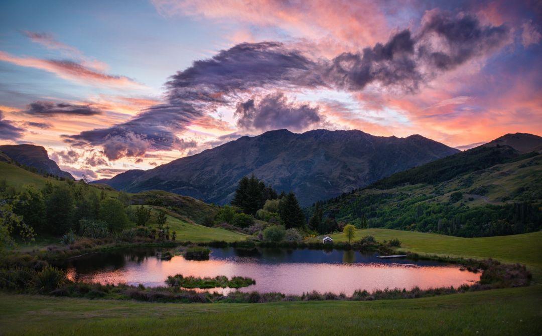 Nature water scenics nature sky mountain lake cloud sky – Android, iPhone, Desktop HD Wallpaper