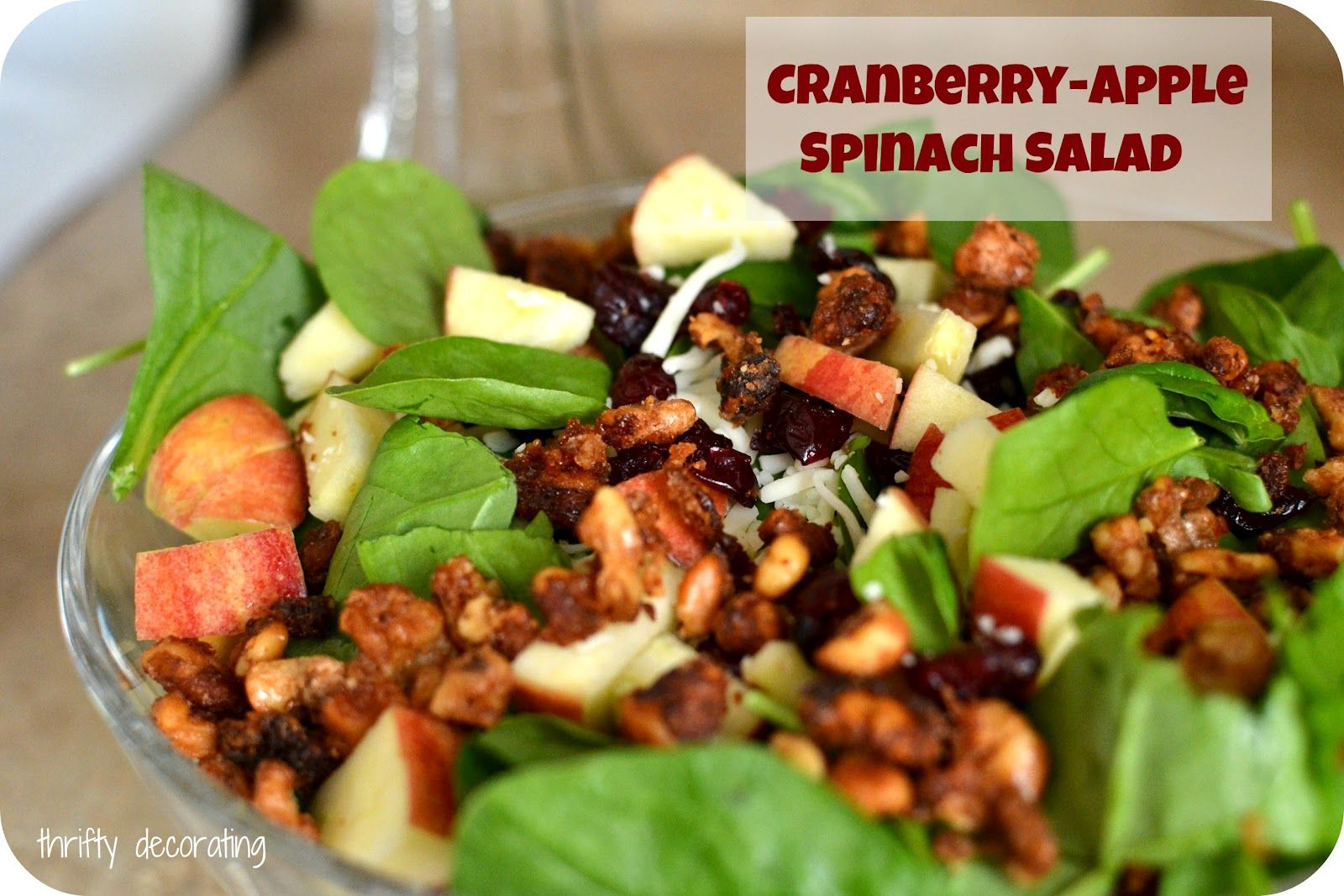 Thrifty Decorating: Cranberry-Apple Spinach Salad