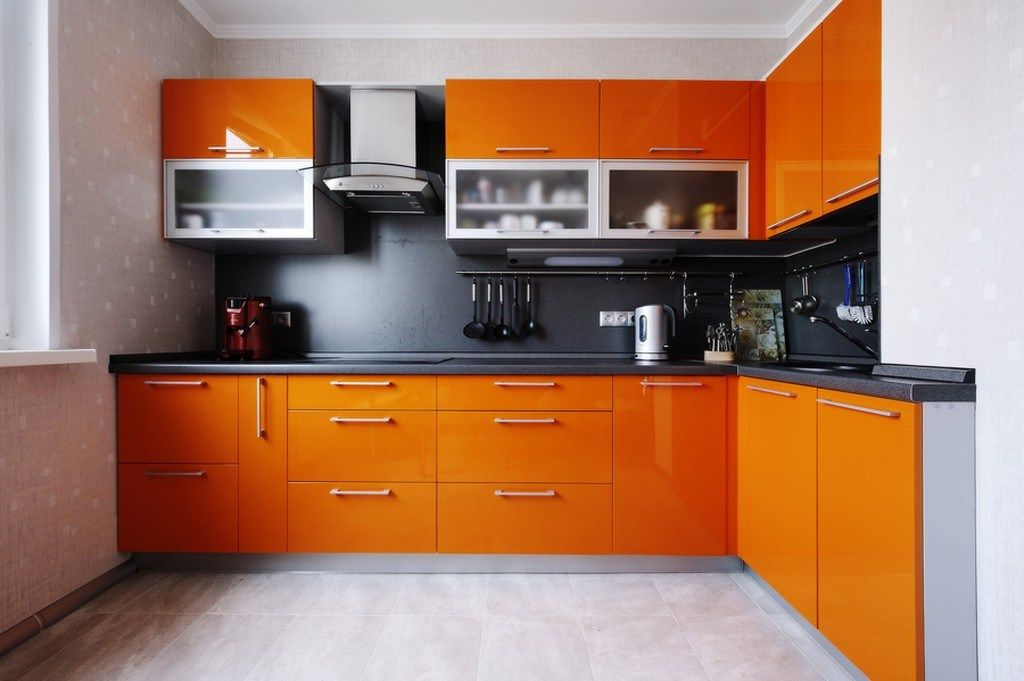 Stunning 152 Orange Kitchen Cabinets Decorating Ideas Kitchen