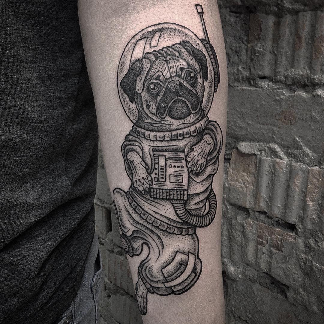 23 Loveable Pug Tattoos - Sortra