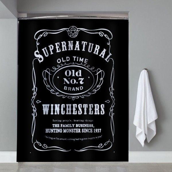 Supernatural The Winchester Shower Curtain Cheap Shower Curtains