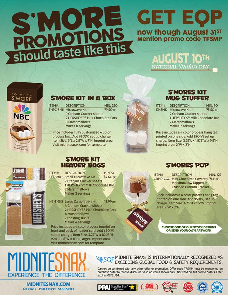 Su0027more promotions should taste like this Promotional Product - product flyer