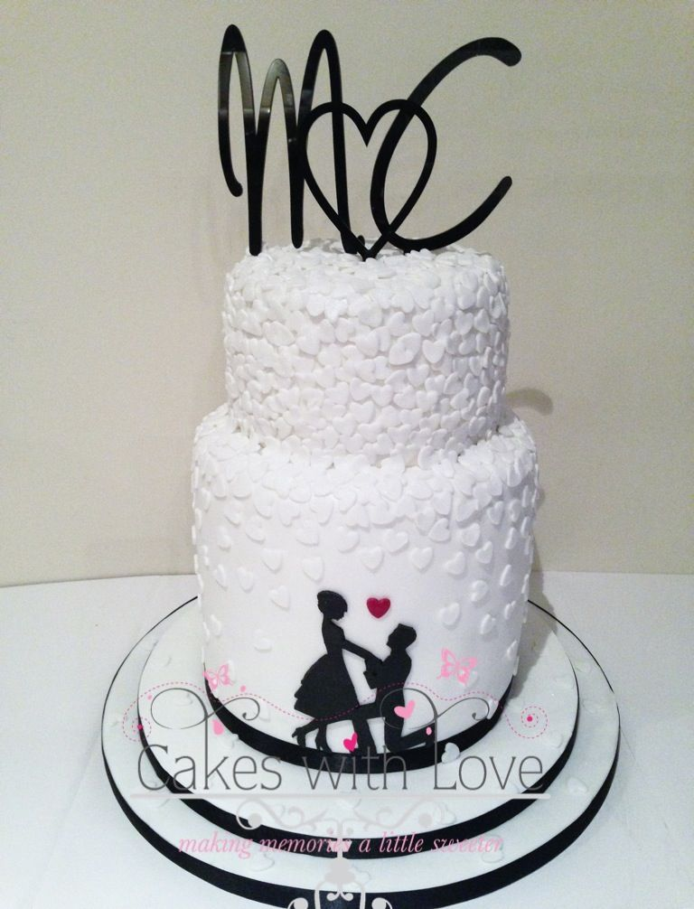 silhouette wedding cakes ideas silhouette engagement cake josalynn engagement part 19823