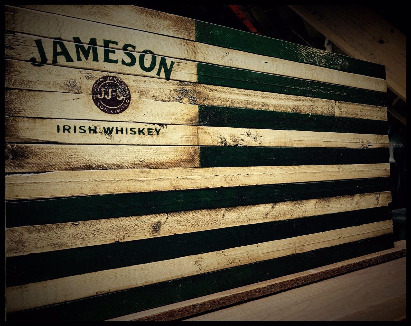 JAMESON IRISH WHISKEY Rustic Wooden Flag | crafts | Pinterest ...