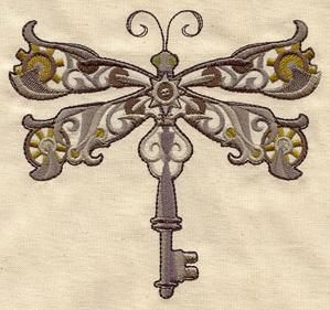 Steampunk Dragonfly_image      Machine embroidery