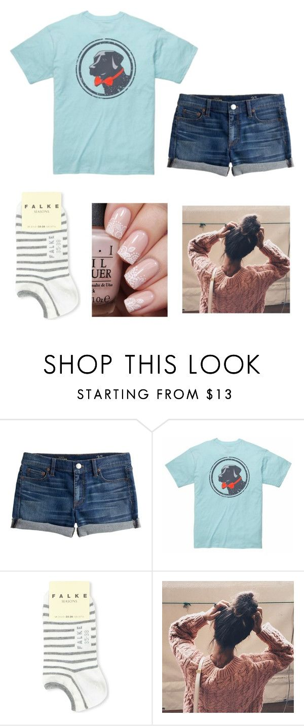 """""""Prep"""" by maybeckc on Polyvore featuring J.Crew, Southern Proper and Falke"""
