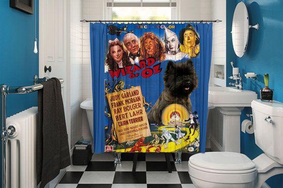 Cairn Terrier Art Shower Curtain Dog Curtains Bathroom Decor