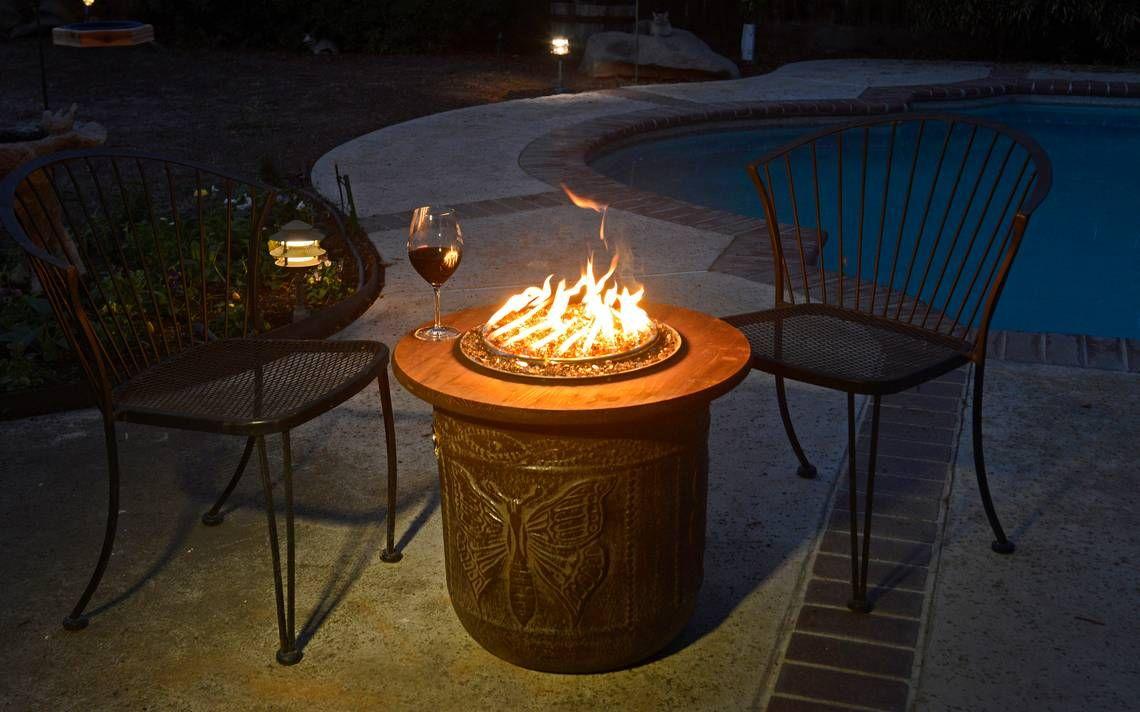 Diy Make A Portable Propane Fire Pit Out Of A Flower Pot Fire