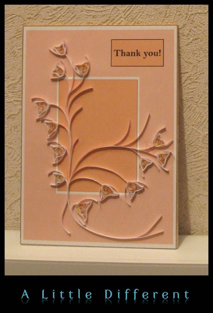 Quilling - 'Thank you' Card