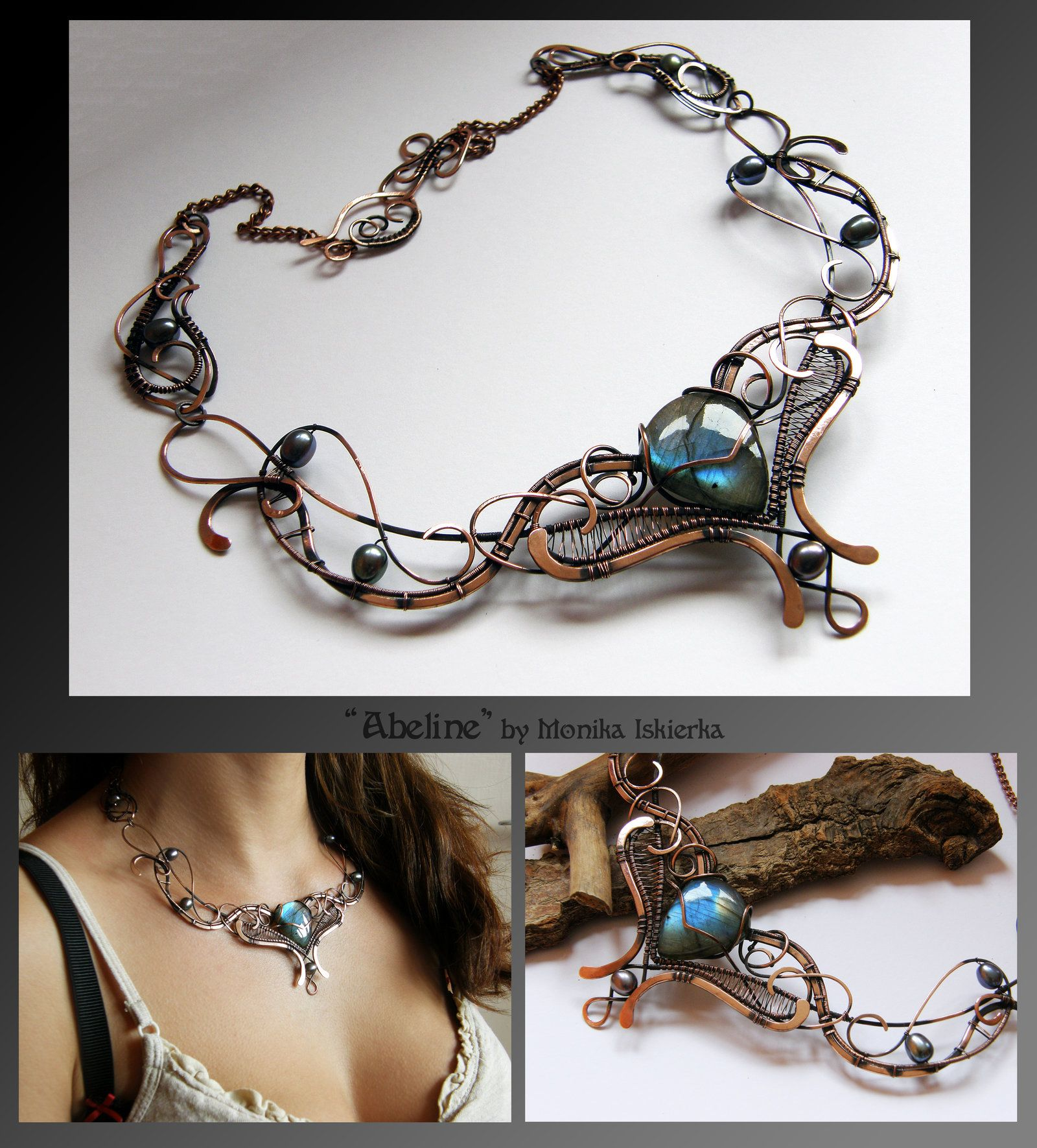 Abeline- wire wrapped copper necklace by mea00.deviantart.com on ...