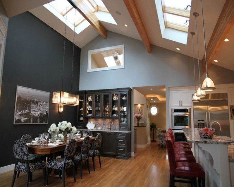 vaulted ceiling lighting ideas design. vaulted ceiling lighting with over the dining room table how to ideas design