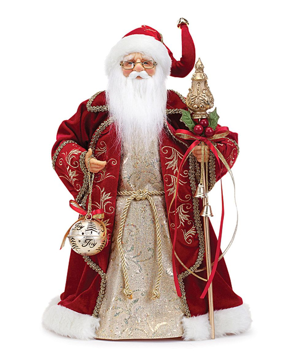 Love This Red Velvet Santa Statue By Roman On Zulily Zulilyfinds Christmas Tree Topper Santa Christmas Tree Toppers Christmas Tree And Santa