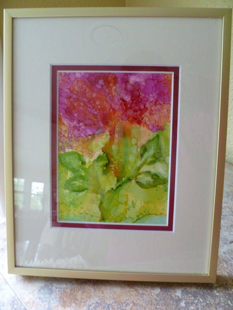 This Beautiful Piece In A Double Mat Comes From Candy H Who Describes Is As Abstract Floral I Dig It Art Artwork Painting P Matboard Abstract Floral Art