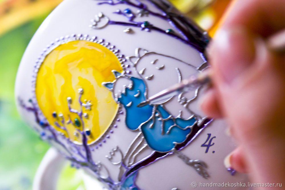 Декорируем кружки в технике витражной росписи | Кружка ...
