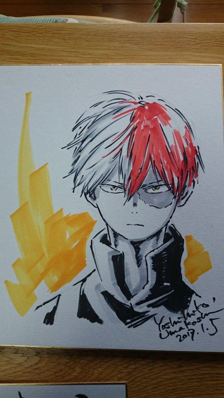 My Hero Academia Dessins sur shikishis par le character