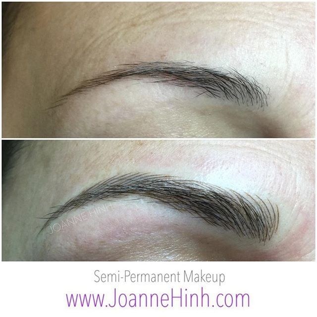 Eyebrow Embroidery Thickened And Gave Client A Little More Shape