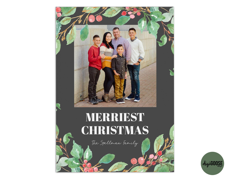 EDITABLE // TEMPLATE // Christmas Card Template