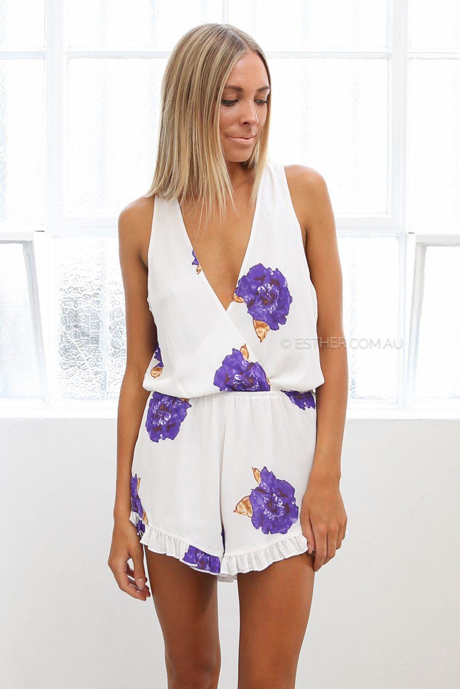 Everdeen playsuit purple wear springsummer pinterest