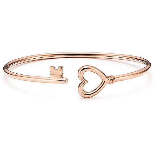 TIFFANY KEYS Wire Heart Bracelet 1300 liked on Polyvore