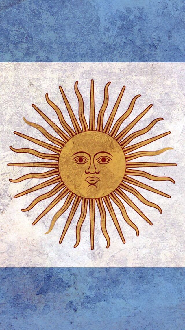 Argentina Sun Bandera Argentina Bandera Escudo Argentino