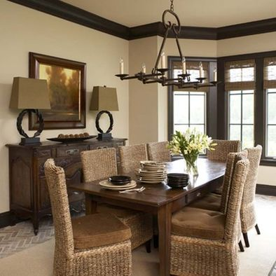 Love the dark wood with the light walls | Home, Dark wood ...