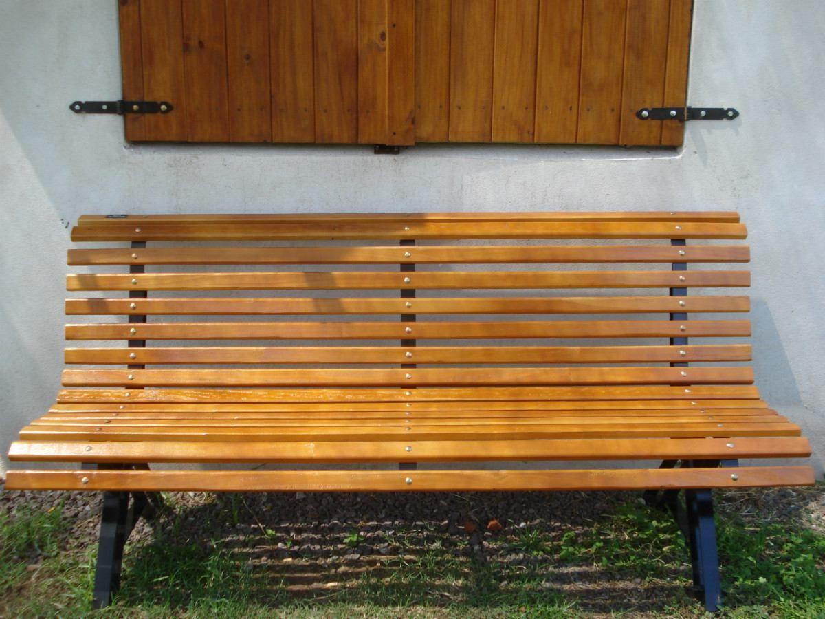 Banco para jardin de plaza bancos para plazas y jardin for Jardin al aire libre de madera deco