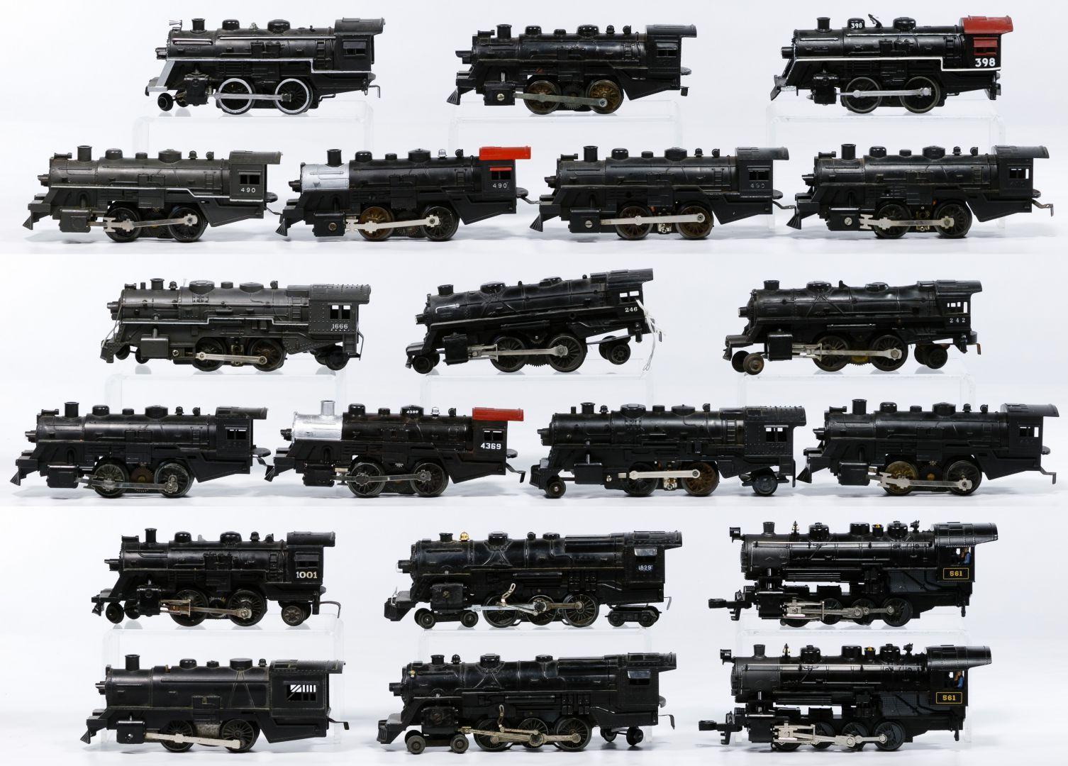 Lot 233 Lionel Model Train Engine Assortment Twenty Post War Engines Including 490 398 4369 561 246 And 1666 Model Trains Train Locomotive