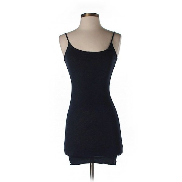 Pre-owned Velvet Tank Top ($15) ❤ liked on Polyvore featuring dark blue