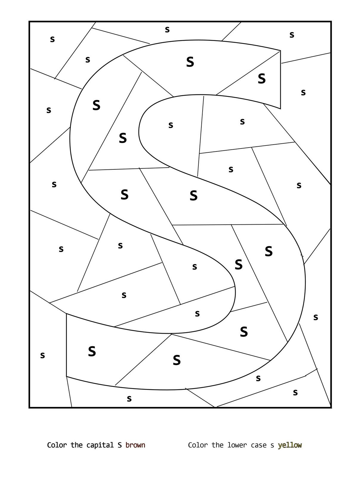 Hidden S Coloring Page