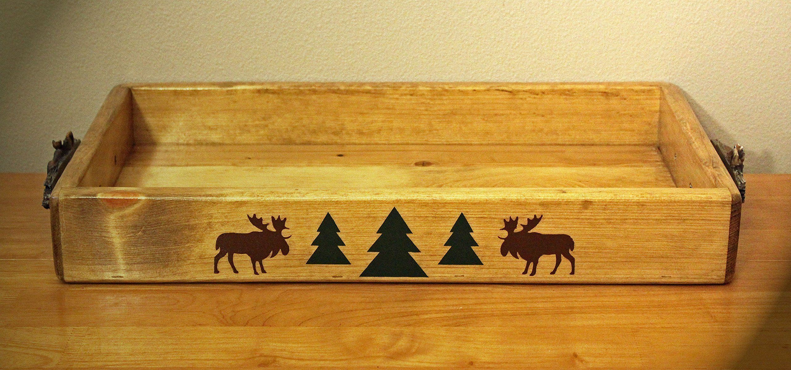 Rustic Cabin/Lodge Decor...The Moose River Handmade Serving Tray ...