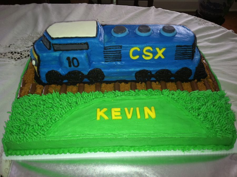 Csx Train Cake Childrens Birthday Cakes Desserts Pinterest