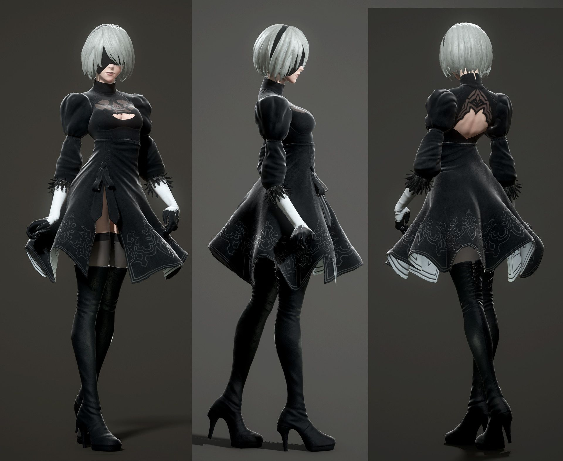 Character Design Nier Automata : Artstation fan art b nier automata takumi oniki